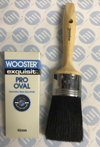 Wooster Exquisit Pro Oval Synthetic Paint Brush Professional Decorating 45mm