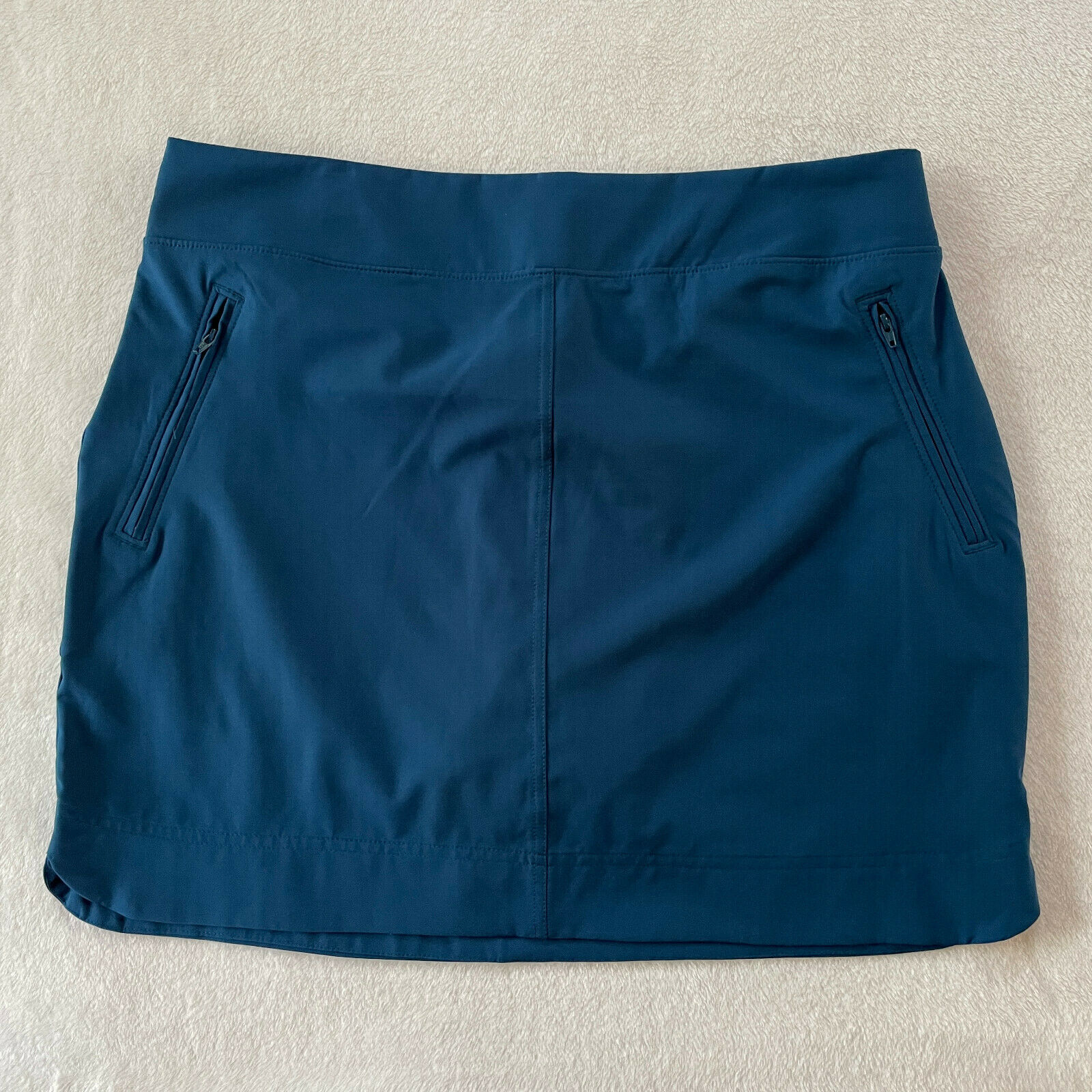 Orvis Travel Skort Skirt Womens Large L Blue Pockets Stretch Active Lightweight