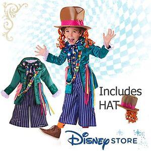 New Disney Store MAD HATTER Alice Costume Hat Boys