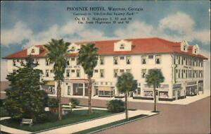 Phoenix-Hotel-Waycross-Georgia-Okefenokee-Swamp-Park-1940s-linen-postcard