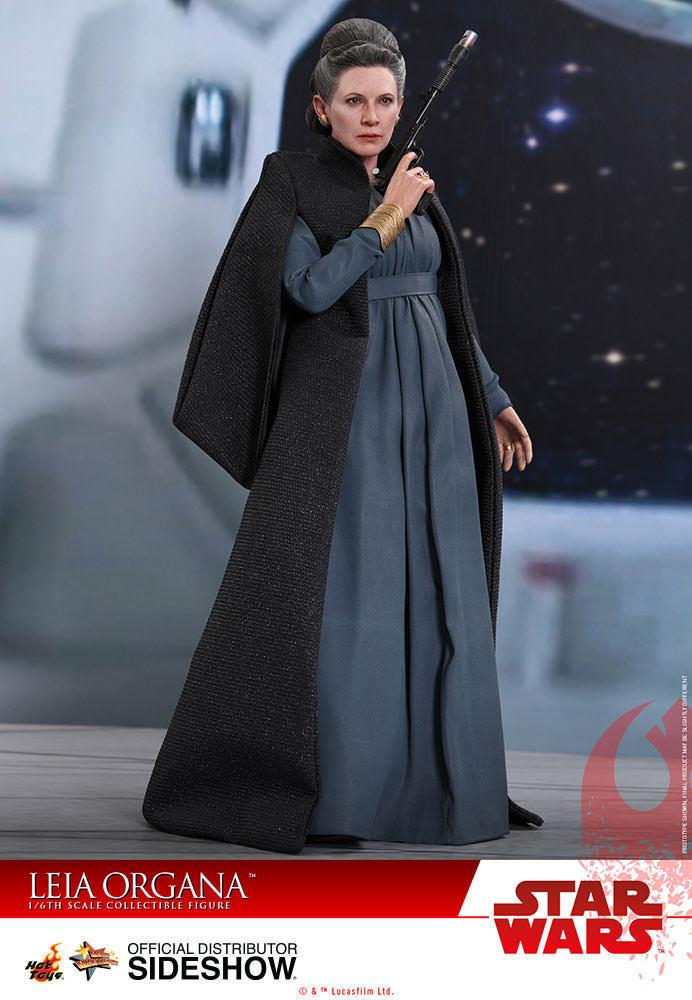 Guerra De Las Galaxias La última Jedi 11 pulgadas Leia Organa MMS-Figura de Acción Hot Juguetes 903333