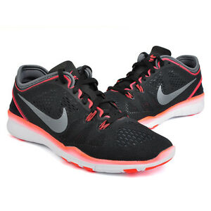 835de2071b8 Women s Nike Free 5.0 TR Fit 5 Black Dark Grey Bright Crimson White ...