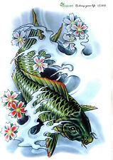 Einmal Tattoo  Koi Collection 3D Optik wasserfest Waterproof (LC-819)