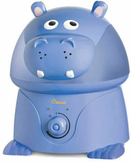 Crane Adorable Ultrasonic Cool Mist Humidifier Hippo EE 8245, Blue