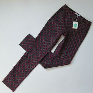 Nwt Boden Bistro Trouser In Dark Pink Floral Stretch Cotton Pants 4l X 33 To Be Distributed All Over The World