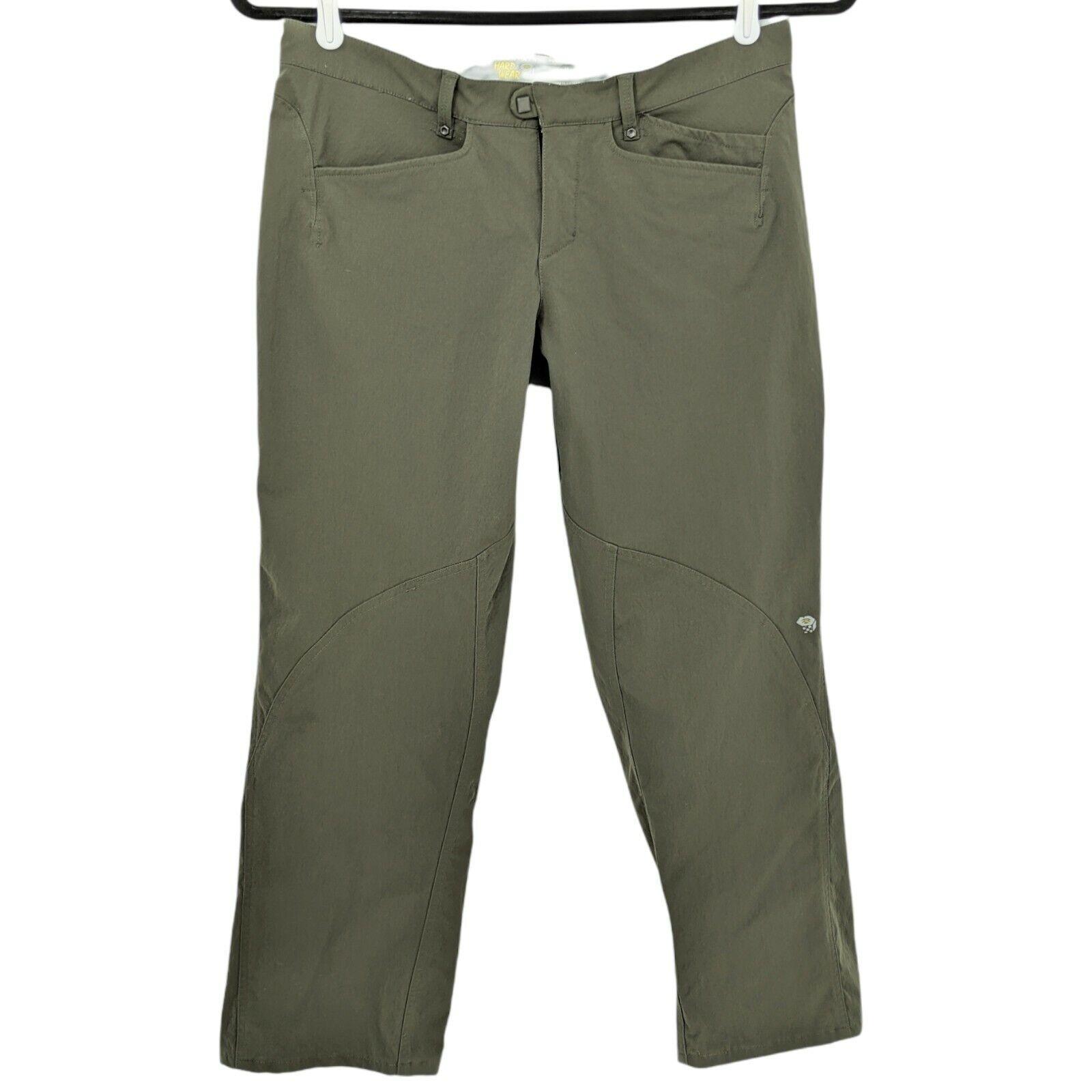 Mountain Hardwear Outdoor Pants Nylon Stretch Hiking Travel Green Women's Sz 10