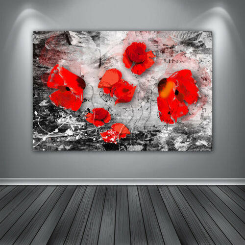 Klatschmohn Blumen Abstrakt Bilder Leinwand Bild Wandbilder Kunstdrucke Poster