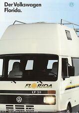 Prospekt 1 90 1990 VW LT Florida Reisemobil Wohnmobil motor home brochure Auto