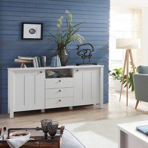 sideboard siena anrichte kommode schrank f r wohnzimmer in wei supermatt 157 cm ebay. Black Bedroom Furniture Sets. Home Design Ideas