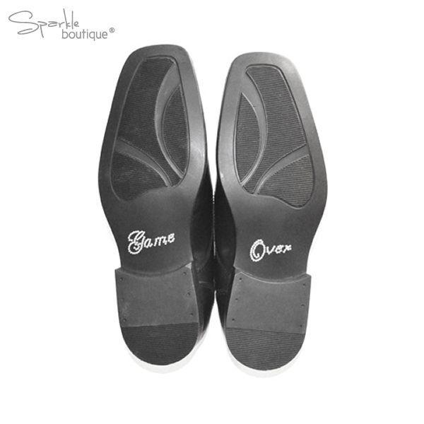 Wedding Shoe Stickers - Crystal/Diamante - Something Blue - Gift for Bride/Groom