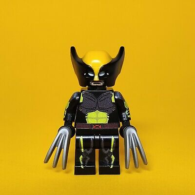 Marvel Xmen WOLVERINE BLUE Custom Printed on Lego Minifigure