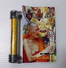 Rare Thai Amulet Buddha gold takrud LP Kalhong for  immortal