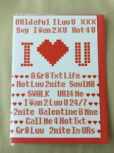 ❤️ Valentines Day Card ❤️ Text Message ❤️ New & Sealed ❤️