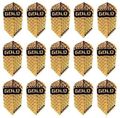 Gold Dimplex Dart Flights 3 per set