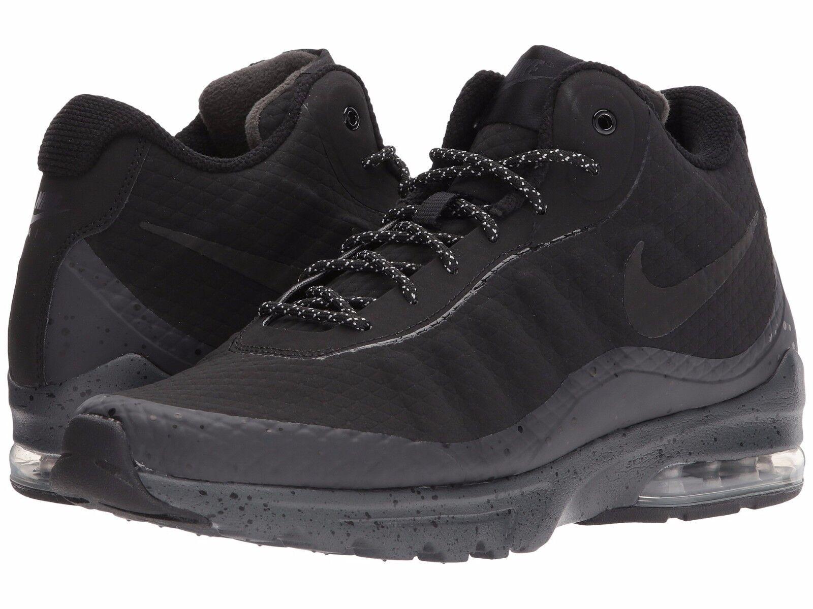 Men's Nike Air Max Invigor Mid Black Black-Anthracite Boot 858654-004