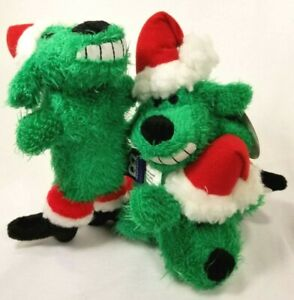 Christmas-Holiday-Squeaker-Mini-Loofa-dog-toy-toys-puppy-puppies-dogs-gift-B5