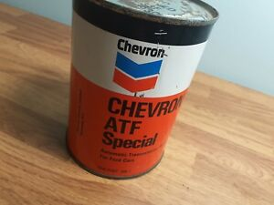 Chevron-ATF-Special-Automatic-Transmission-Fluid-Tin-Can-Ford-Vintage-Canadian