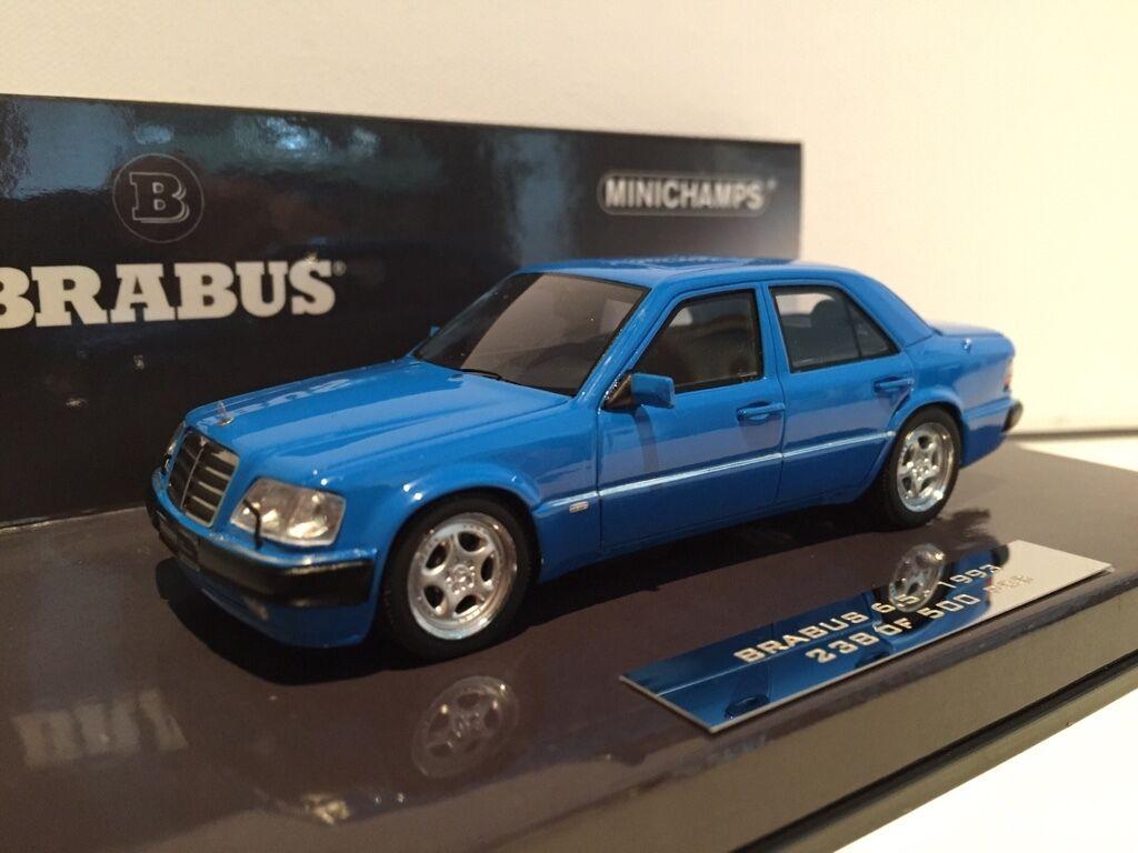 Brabus Mercedes 500E 6,5 W124 blau 1 43 Minichamps neu & OVP 437032502  | Tadellos