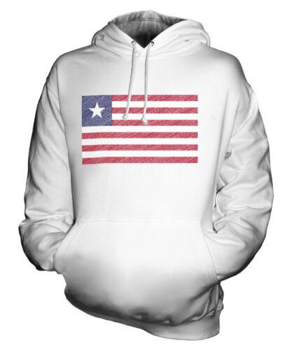 Maglia Felpa Idea Liberiano Scarabocchiato Bandiera Regalo Calcio Unisex Liberia wRqIv1ER