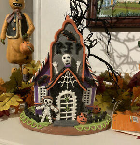 Halloween-Clay-Gingerbread-Light-Up-Haunted-House-Candy-Skeleton-Decor-Pumpkin