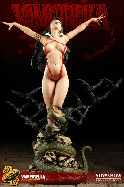 Sideshow VAMPIRELLA Comiquette EXCLUSIVE Statue - Low 350 NEW FACTORY SEALED