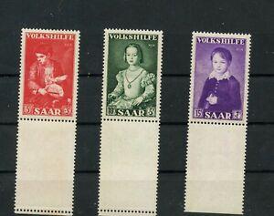 Germany-Saar-Saarland-vintage-yearset-1954-Mi-354-356-Ur-Mint-MNH-2
