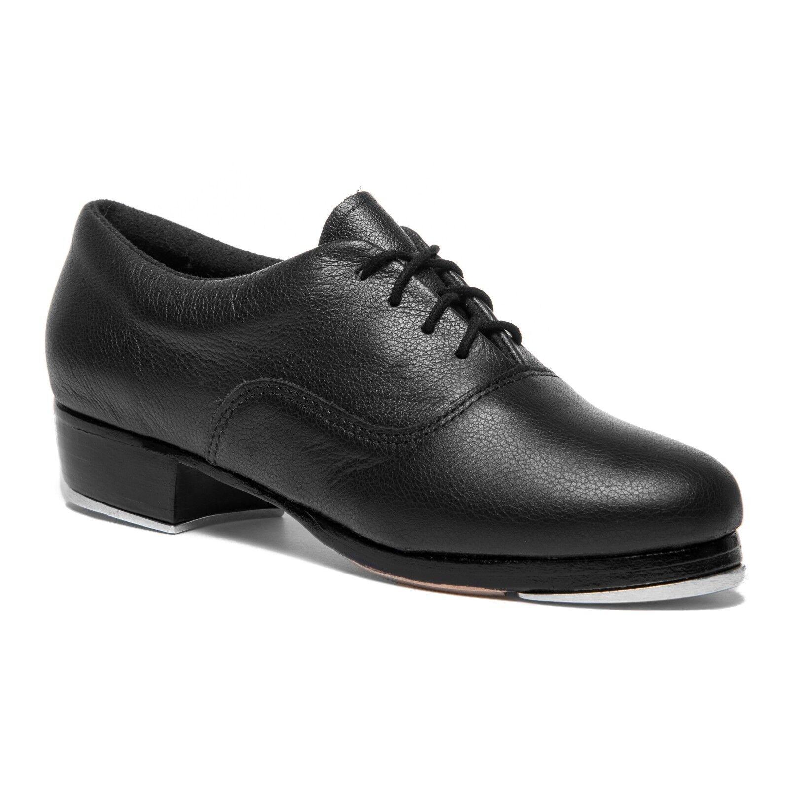 So Danca TA800 Damen Stepp Tanz Show Schuhe mit Stepplatten und Gummi-Pads Leder