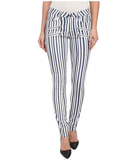Paige Denim Skinny Jeans Edgemont damen Weiß Navy Sz 25 27 28 Cyprus Stripe