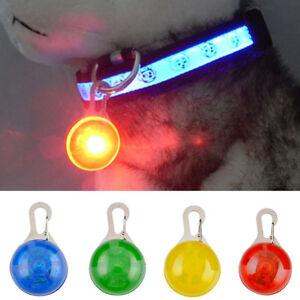 1PC Pet Dog Cat Puppy LED Flashing Collar Safety Night Light Keyring Pendant