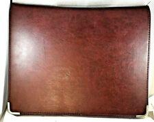 Vintage Mead Cambridge File Folder Portfolio Burgundy Faux Leather File Pocket