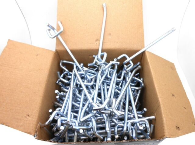 """100 2/"""" Pegboard Hooks Shelf Hanger Kit 2/"""" x 1//8/"""" Garage Storage Hanging Set"""