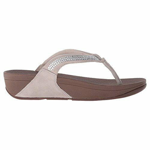 5a2ee6bcb Buy FitFlop Women s Crystal Swirl Thong Sandal Nude Suede Size 5 M online