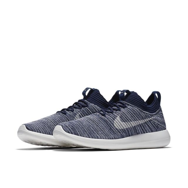 e0f45dc411ae Womens Nike Roshe Two Flyknit V2 917688-400 College Navy Brand New Size 7