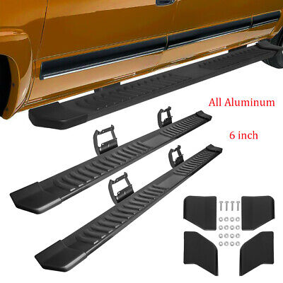 """For 15-19 Ford F150 Super Crew Cab 6/""""Aluminum Black Side Step Running Boards"""