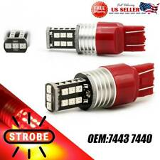Red 7440 7443 Led Flash Strobe Brake Stop Tail Light Bulbs For Honda Civic Cr V Fits 2004 Honda Civic