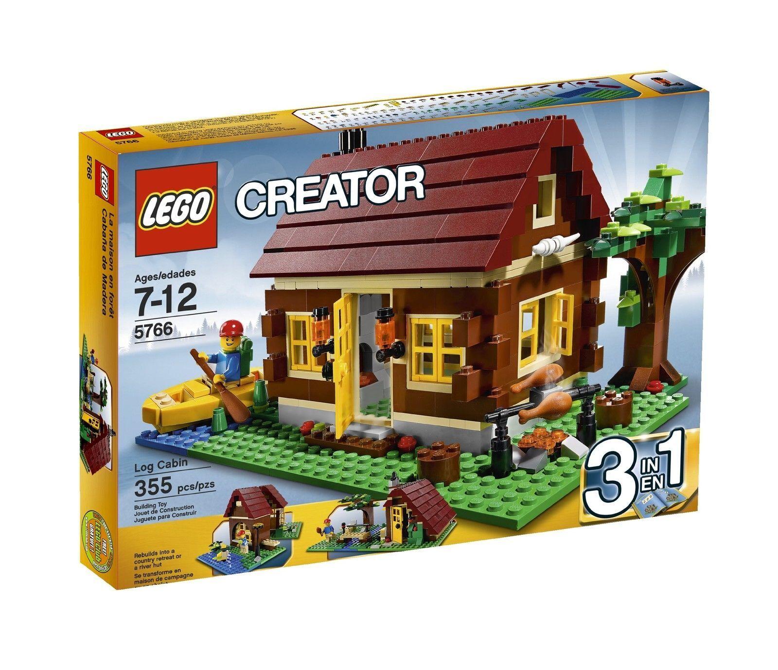 LEGO 5766 Creator Log Cabin  3-in-1 Set - Bre nuovo Sealed, Rare  più sconto