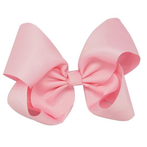 8 Inch 15 pcs//lot Large Girls Hair Bows Grosgrain Ribbon Large Clip Handmade