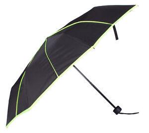 Regenschirm Taschenschirm Schwarz Mit Streifen In Neonfarben Kleidung & Accessoires verschiedene Farbe