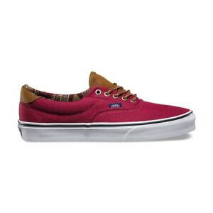 85d5c5f8d1 VANS Era 59 (C L) Tibetan Red Geo Weave Skate Shoes Men s 7.5 ...
