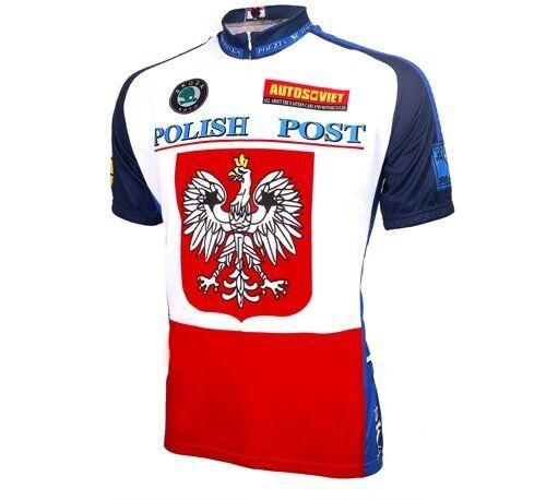 World  Jerseys Men's Polish Post Cycling Jersey,       Polska. Poland. XXL- size  first-class service