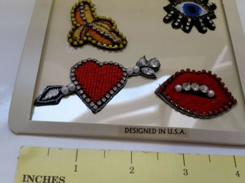 Banana. Handcrafted beaded embroidered Patches Heart for bag denim N2//22 Lips