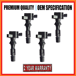 Set of 4 Brand New Ignition Coils for Ford Escape /& Mazda 3 6 CX7 MX5 Tribute