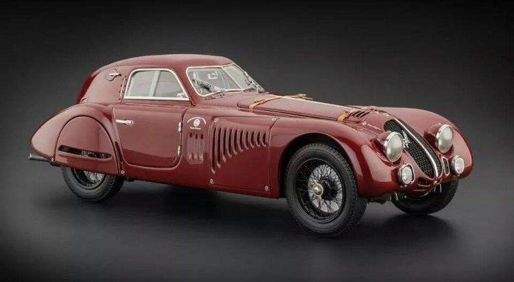 1938 Alfa Romeo 8c 2900 B en 1:18 Echelle par Cmc | Premiers Clients