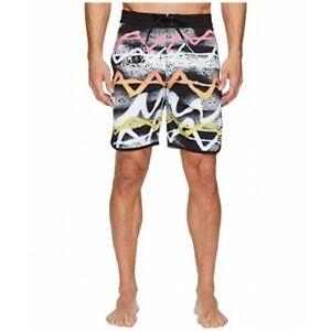 Billabong-Lineup-Neon-Mens-Boardshorts-Black-Size-38-Swimwear-Summer