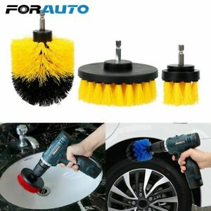 Car Wash Brush Hard Bristle Drill Auto Care Detailing Cleaning Tools 3pcs/set