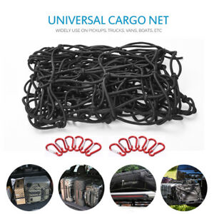 Truck Bed Cargo Net >> Details About Heavy Duty Bungee Cargo Net Latex Truck Bed Mesh For Loads Tighter Cargo Hitch
