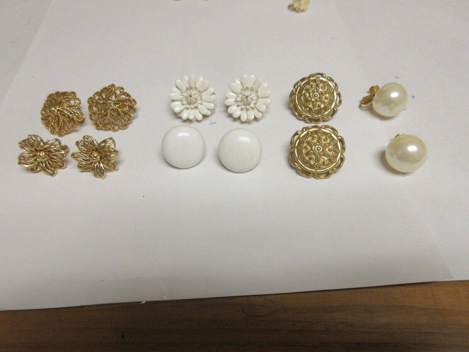 Costume Jewelry , Earrings , Vintage , Monet , Trifari