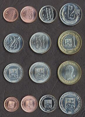 PERU COIN SET 1+5+10+20+50 Centesimo 1 Nuevo Sol 2007-2008 UNC LOT of 6 COINS