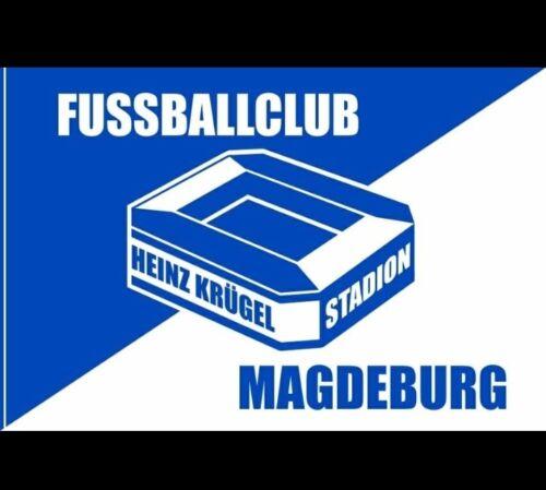 FC Magdeburg Stockfahne 150 x 100 cm  ** NEU ** FCM Fahne 1