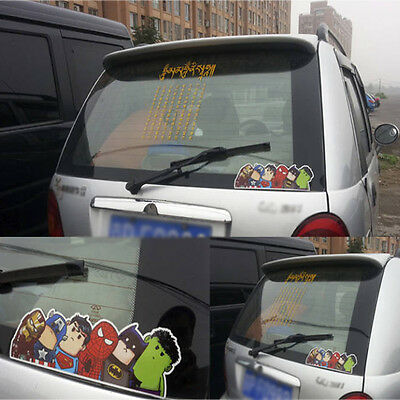 1x Crooked Neck Super Heros Bumper/Windshield/Car Reflective Stickers Decals New